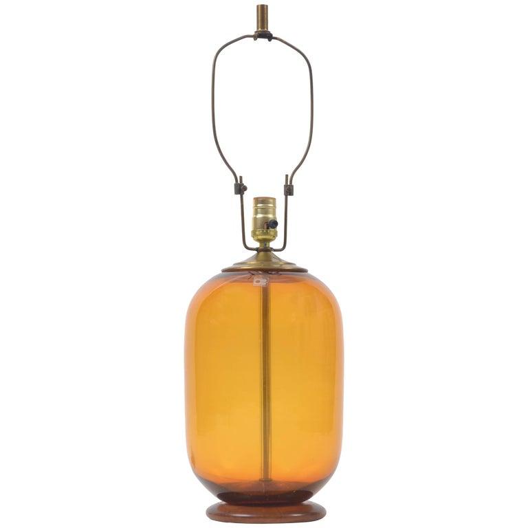 Blenko Blown Glass Lamp Designed by Don Shepherd