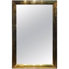 19th Century Louis Philippe Brass Framed Mirror