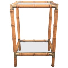 Lovely Faux Bamboo Side Table