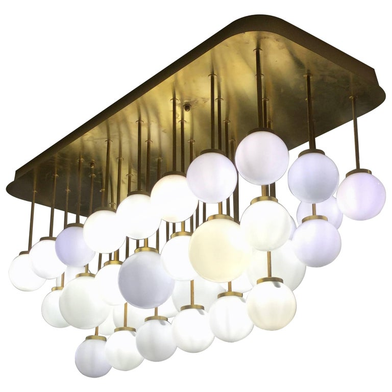 Italian Modernist Sculptural Chandelier