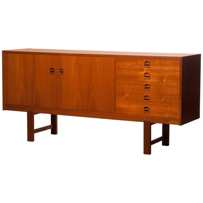 1950s Teak Sideboard by Erik Wørts For Sale