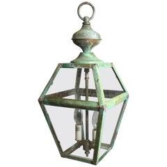 Small Vintage Brass Hanging Lantern