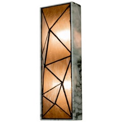 Gem_Stone, Contemporary Wall Sconce in Glass and Carrera Marble by Kalin Asenov