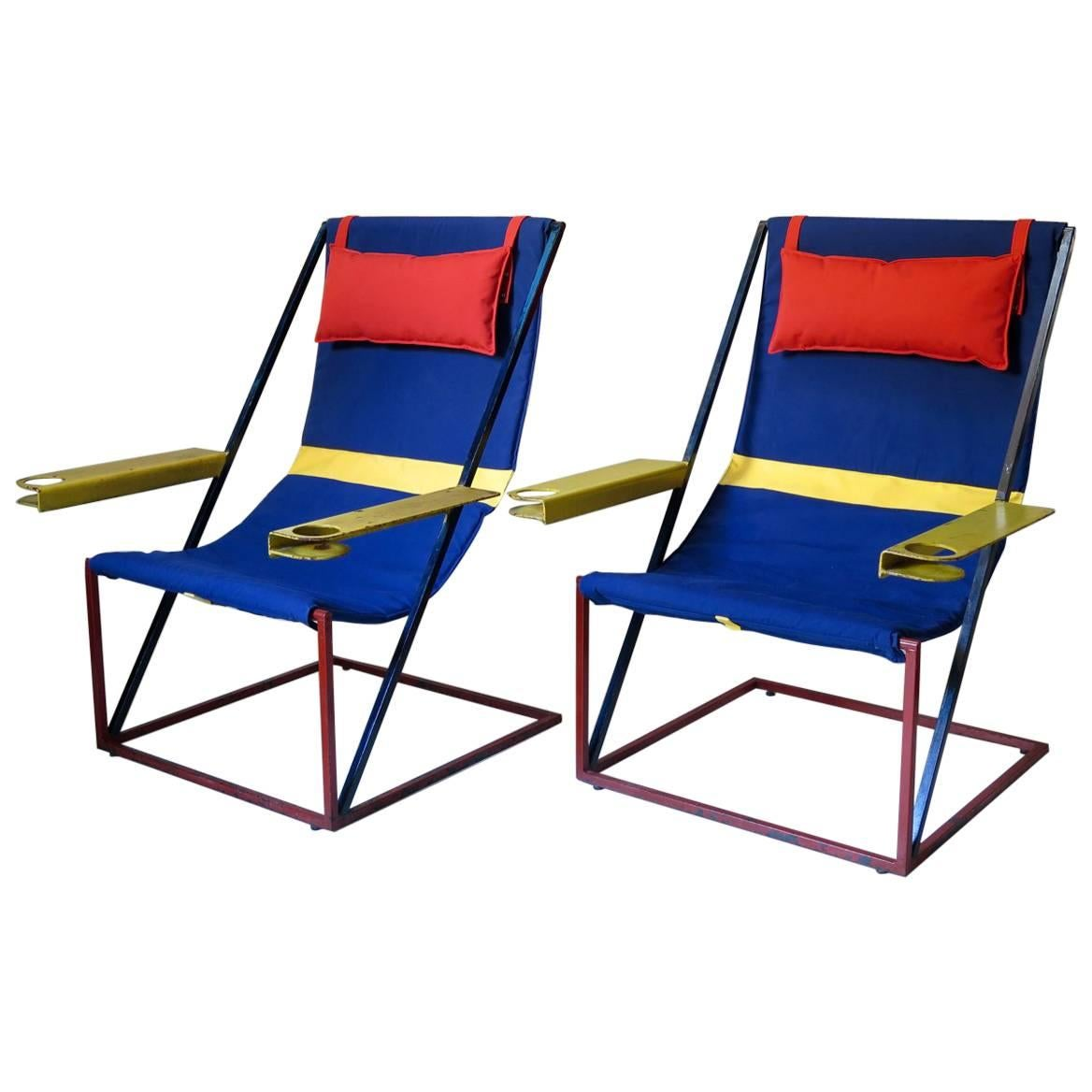 Jumbo Modernist Chairs, France, circa 1950s