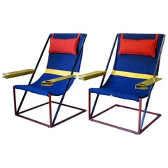 Jumbo Modernist Chairs, France, circa 1950s