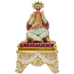 19th Century European Porcelain Encirer in the Oriental Style