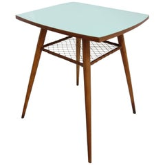 Lime Green Rotatable Table from Czechoslovakia, Brussels Period