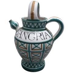 Robert Picault Ceramic Sangria Pitcher, circa 1960