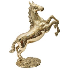 Brass Horse Sculpture