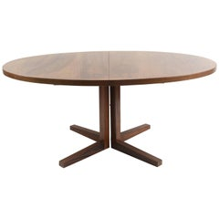 Oval Rosewood Mid-Century Dining Table by John Mortensen