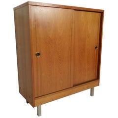 Teak Sliding Door Cabinet