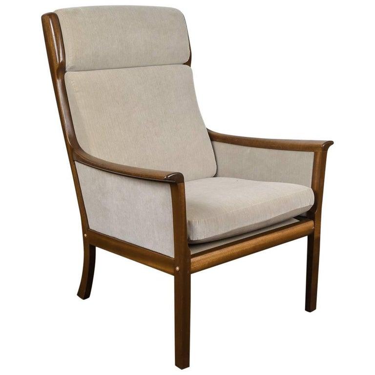 Ole wanscher for p jeppesen danish mid century high back for P jeppesen furniture