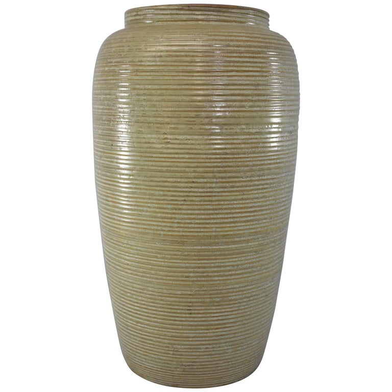 Mid Century Monmouth Pottery Large Floor Vase For Sale At 1stdibs