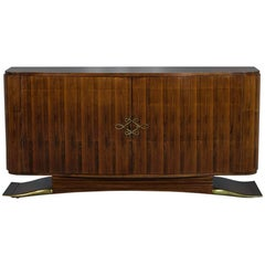 Antique Rosewood French Art Deco Sideboard