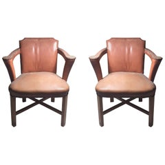 Vintage Syrie Maugham Lounge Occasional Armchairs