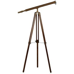 Sleek Brass Telescope