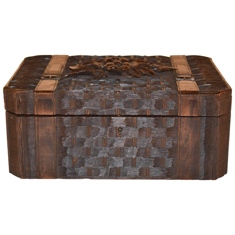 19th Century Black Forest Dresser Box