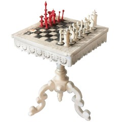 Swiss Miniature Chess Table with Stanhope Lens