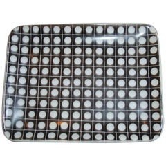 Fornasetti Black and White Polka Dot Pin Tray