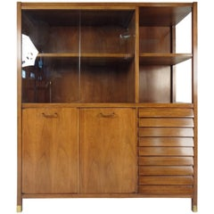 Mid Century Modern Walnut China Cabinet By Lane Altavista