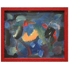 Little Abstract Expressionist Painting by Wesley Johnson