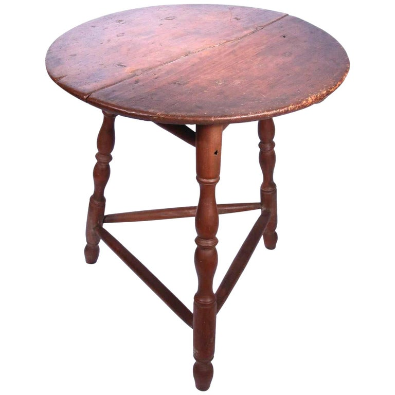 18th Century Red Painted Pennsylvania Windsor Table