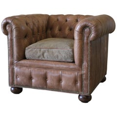 Chesterfield Leather Club Chair by Baker