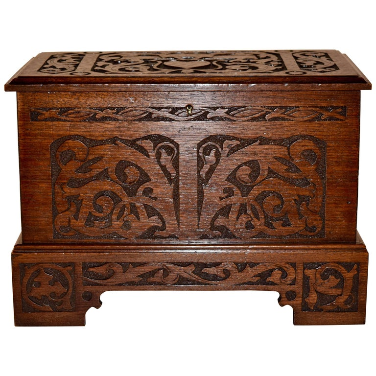 Late 19th Century Miniature Blanket Chest For Sale