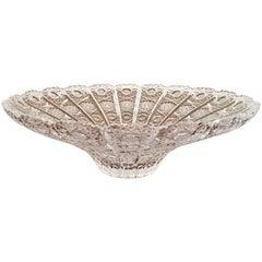 Stunning Bohemin Cut Crystal Centrepiece Bowl