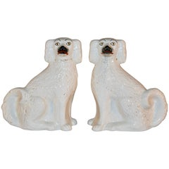 Pair of 19th Century Staffordshire Dogs