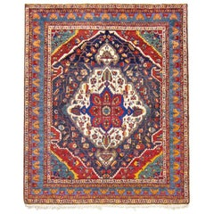 Red and Blue Afshar Rug, circa 1920s