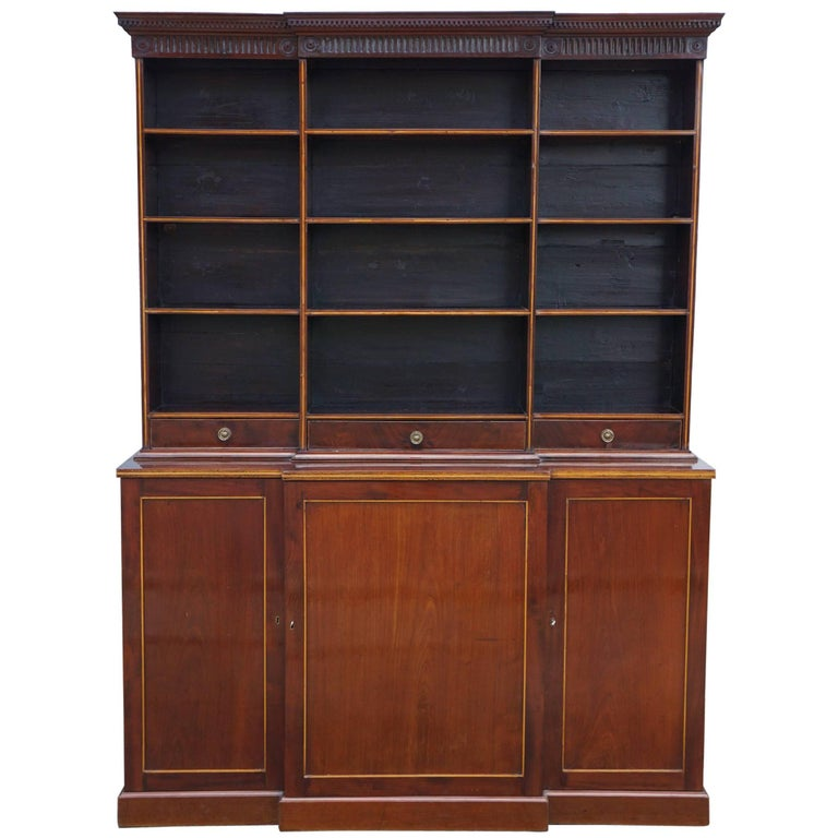 Period George III Mahogany Small Open Bookcase For Sale At