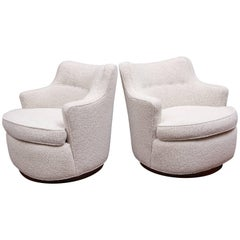 Swivel Lounge Chairs by Edward Wormley for Dunbar