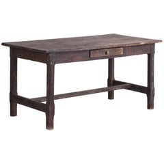 Painted Oak Work Table, England, circa 1780