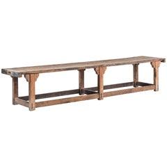 Long Primitive Work Table, circa 1920