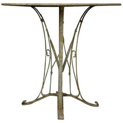 French 1920s Art Deco Style Iron Garden Table