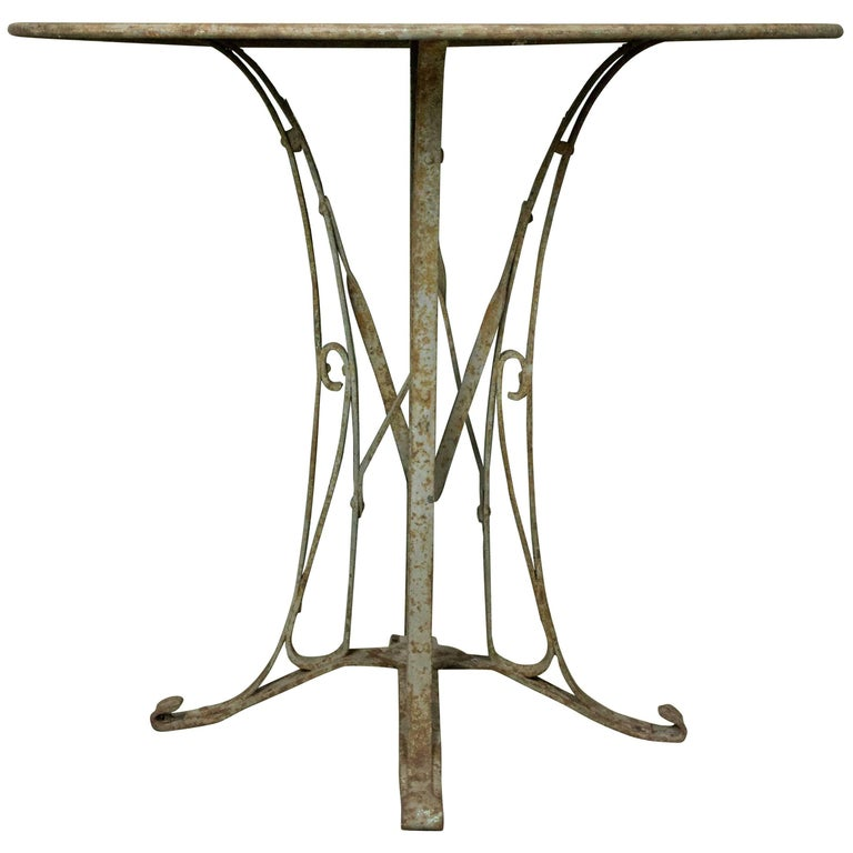 French 1920s Art Deco Style Iron Garden Table For