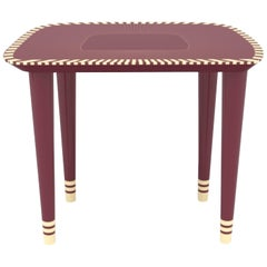 Bijou Burgundy Stool by Matteo Cibic for Scarlet Splendour