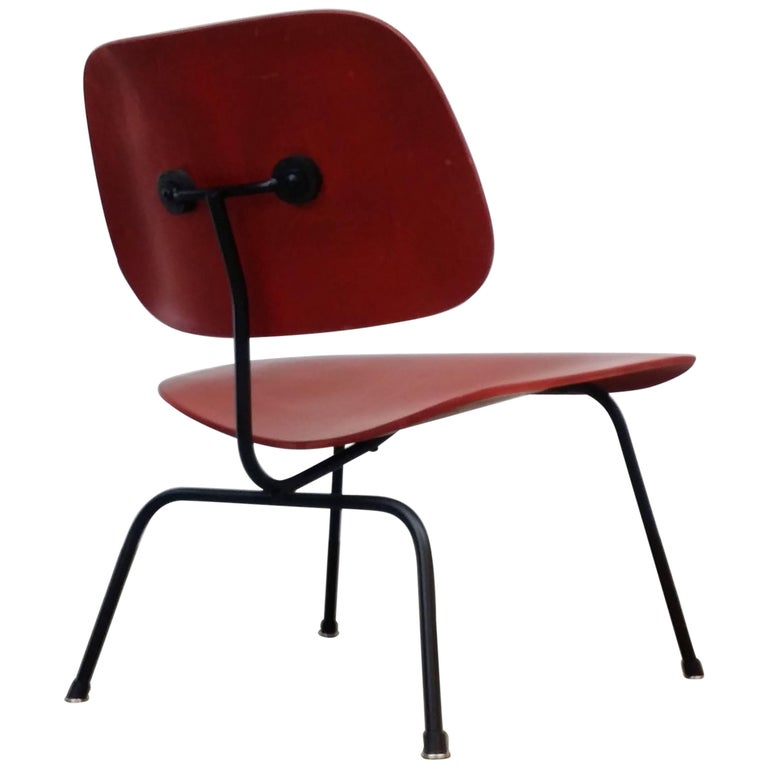 Fully Restored Early Red Aniline Dye Eames LCM