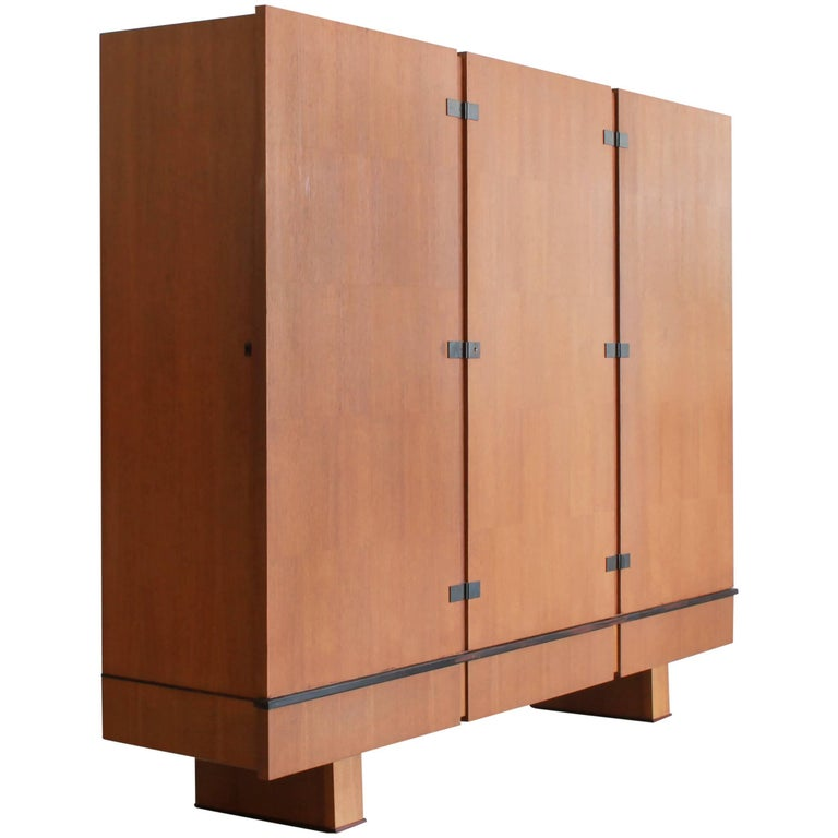 French Oak Armoire by Maxime Old, circa 1950 For Sale