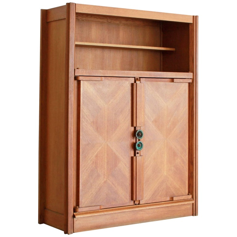 Guillerme et Chambron Open Shelf Cabinet For Sale