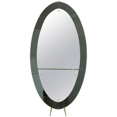 Cristal Art Standing Mirror with Shelf