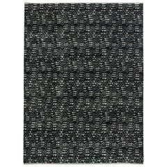 Contemporary High and Low Pile Rug