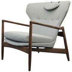 Mid-Century Danish Wingback Lounge Chair by Ib Kofod-Larsen