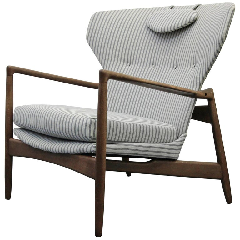 Mid-Century Danish Wingback Lounge Chair by Ib Kofod-Larsen