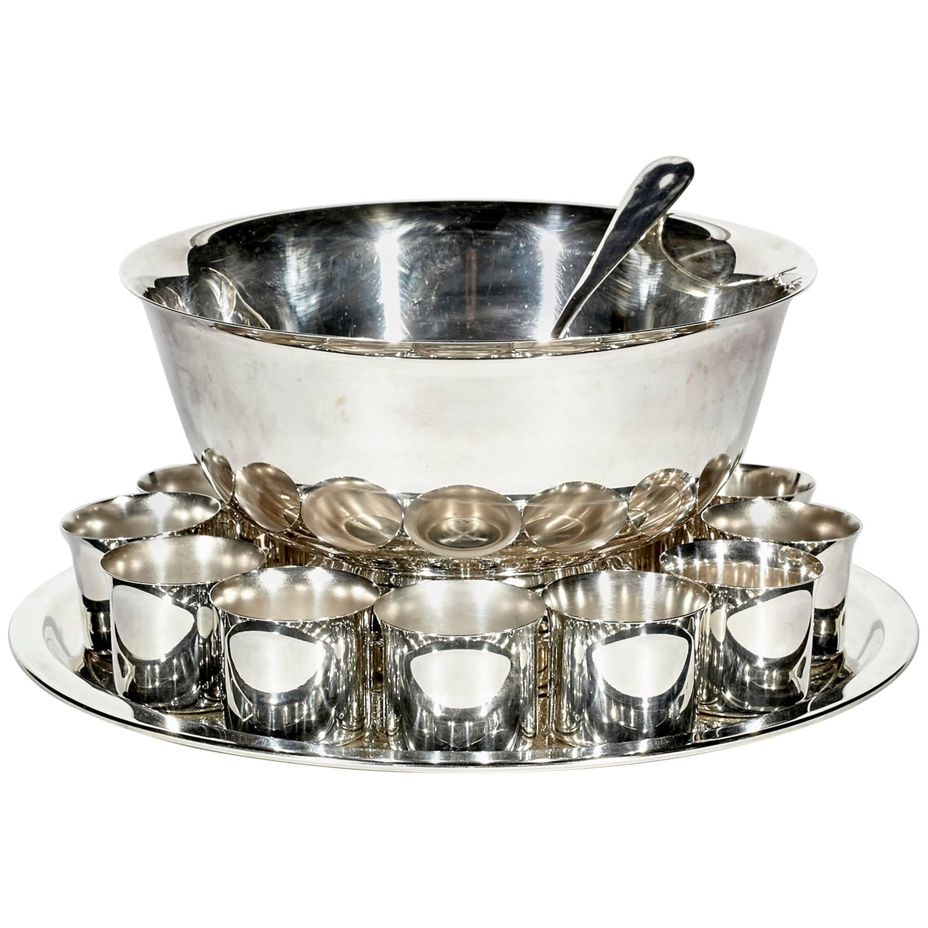 1960s Silver Plate Punch Bowl Set For Sale  sc 1 st  1stDibs & 1960s Silver Plate Punch Bowl Set For Sale at 1stdibs