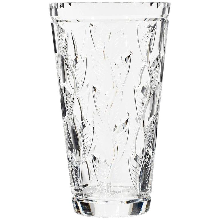 Art Deco Webb Corbett Cut Glass Vase England For Sale At 1stdibs