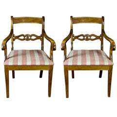 Late 19th Century Swedish Antique Biedermeier Carver Chairs