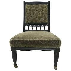 Rare Aesthetic Movement Ebonized Nursing Chair Designed by Bruce Talbert
