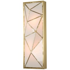 Gem_Gold, Contemporary Wall Sconce in Glass and Brass by Kalin Asenov